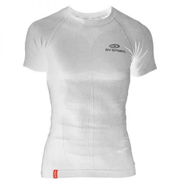 BV SPORT Skael Teknik T-shirt Kısa Kollu - Beyaz