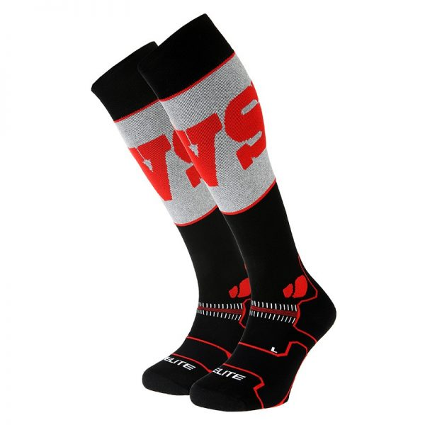 BV SPORT Slide Elite Komresif Kayak Çorabı - Siyah Kırmızı